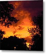 A Minnesota Sunset Metal Print