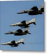 A Mixed Formation Of U.s. Air Force Metal Print