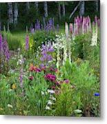 A Mixture Of Flowers Bloom In Hillside Metal Print