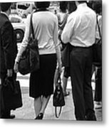 A Moment's Pause - New York City Streets Metal Print