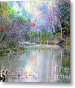 A Monet Autumn Metal Print