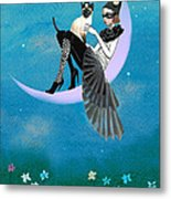 A Moon Cat  Metal Print