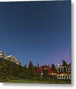 A Moonlit Nightscape Taken In Banff Metal Print