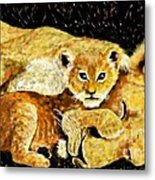 A Mother's Love - In The Den By Lcs Metal Print