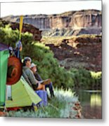 A Multi-generational Family Of Boaters Metal Print
