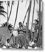 A Native Hawaiian Dancer Metal Print