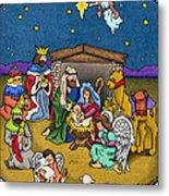 A Nativity Scene Metal Print by Sarah Batalka