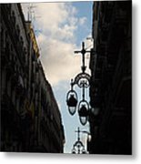 A Necklace Of Barcelona Streetlamps Metal Print