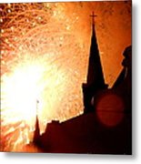 New Orleans St. Louis Cathedral A New Day A New Year In Louiisana Metal Print