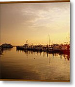 A New Day Beings On The Water - Atlantic Highlands  - Nj Metal Print