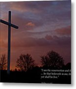 A New Day Dawning - With Scripture Metal Print