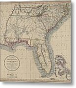 A New Map Of Part Of The United States Of North America Metal Print