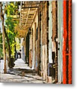 A New Orleans Alley Metal Print