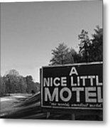 A Nice Little Motel Sign Metal Print