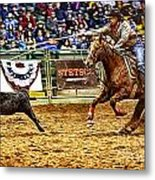 A Night At The Rodeo V10 Metal Print