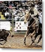 A Night At The Rodeo V12 Metal Print