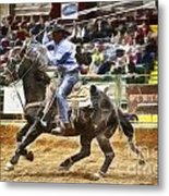 A Night At The Rodeo V19 Metal Print