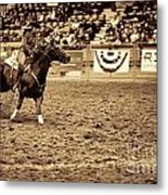 A Night At The Rodeo V22 Metal Print