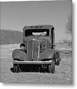 A North Dakota Carriage Metal Print