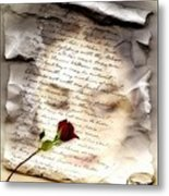 A Note And She Was Gone Metal Print