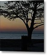 A November Sunset Metal Print