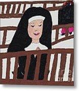 A Nun In Prayer Metal Print
