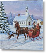 A One Horse Open Sleigh Poster By Richard De Wolfe