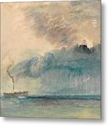 A Paddle-steamer In A Storm Metal Print