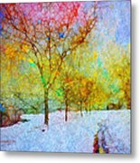 A Painted Winter Metal Print