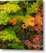 A Painting Adirondack Autumn Metal Print
