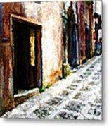 A Painting An Italian Street Metal Print
