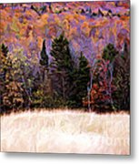 A Painting Autumn Field Metal Print