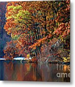 A Painting Barney's Autumn Pond Metal Print