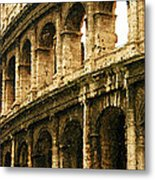 A Painting The Colosseum Metal Print