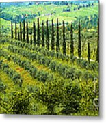 A Painting Tuscan Panoramic 4 Metal Print