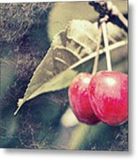A Pair Of Cherries Metal Print