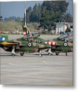 A Pair Of Hellenic Air Force T-2 Metal Print