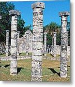 A Panoramic View Of Columns Surround Metal Print