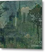 A Park In The City Metal Print