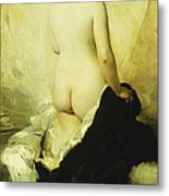 A Partially Draped Nude Metal Print by Charles Chaplin