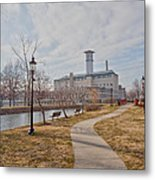 A Path To The Factory Metal Print