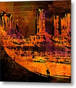A Pause In Monument Park Metal Print