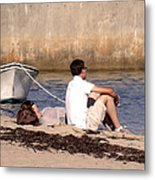 A Peaceful Day At Provincetown  Metal Print