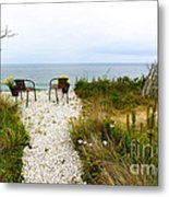 A Peaceful Respite By The Shore Metal Print