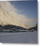 A Peaceful Snow Landsscape Metal Print