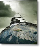 A Peak Of A Mountain Top In The Rocky Metal Print