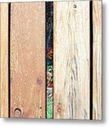 A Peek Through Wood Metal Print