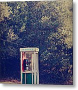 A Phone In A Booth? Metal Print