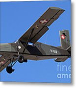 A Pilatus Pc-6 Of The Swiss Air Force Metal Print