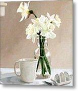 A Pint Of Daffodils Metal Print